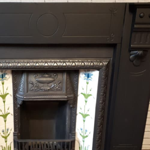 Original Corbelled Slate Fireplace Surround