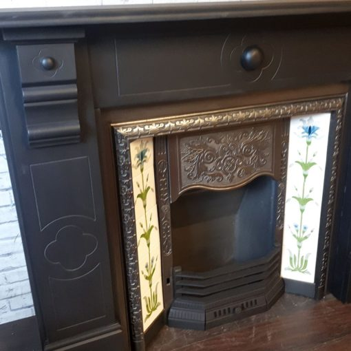 Slate Glazed Bosses Fireplace Surround