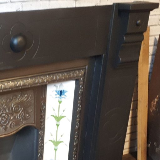 Slate Glazed Bosses Fireplace Surround