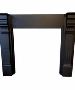 Slate Fluted Panel Fireplace Surround