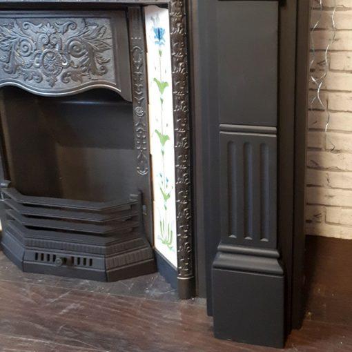 Slate Fluted Panel Fireplace Surround