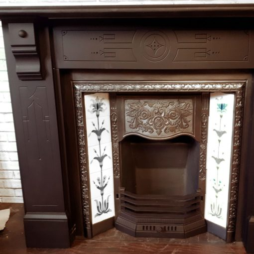 Slate Patterned Fireplace Surround