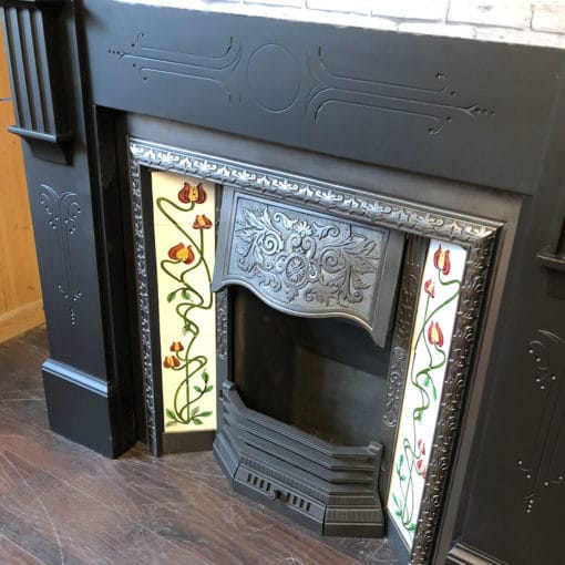 Late Victorian Detailed Slate Surround