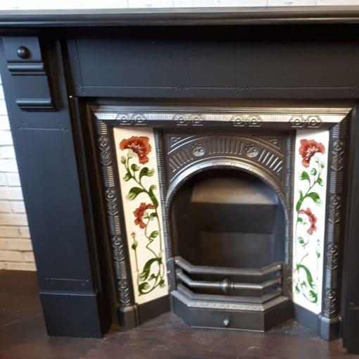 Lined Slate Fireplace Surround