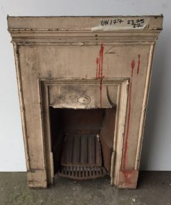 UN177 - Unrestored Bedroom Fireplace
