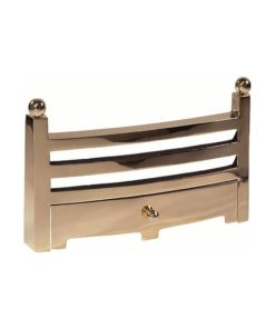 "Bauhaus Fireplace Fret (16"") (Antique Brass)"