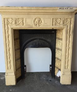 UN256 - Unrestored Bedroom Fireplace