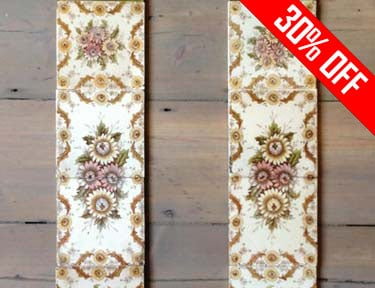 Antique Fireplace Tiles - Summer Sale