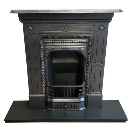 BED196 - Bedroom Sized Cast Iron Fireplace