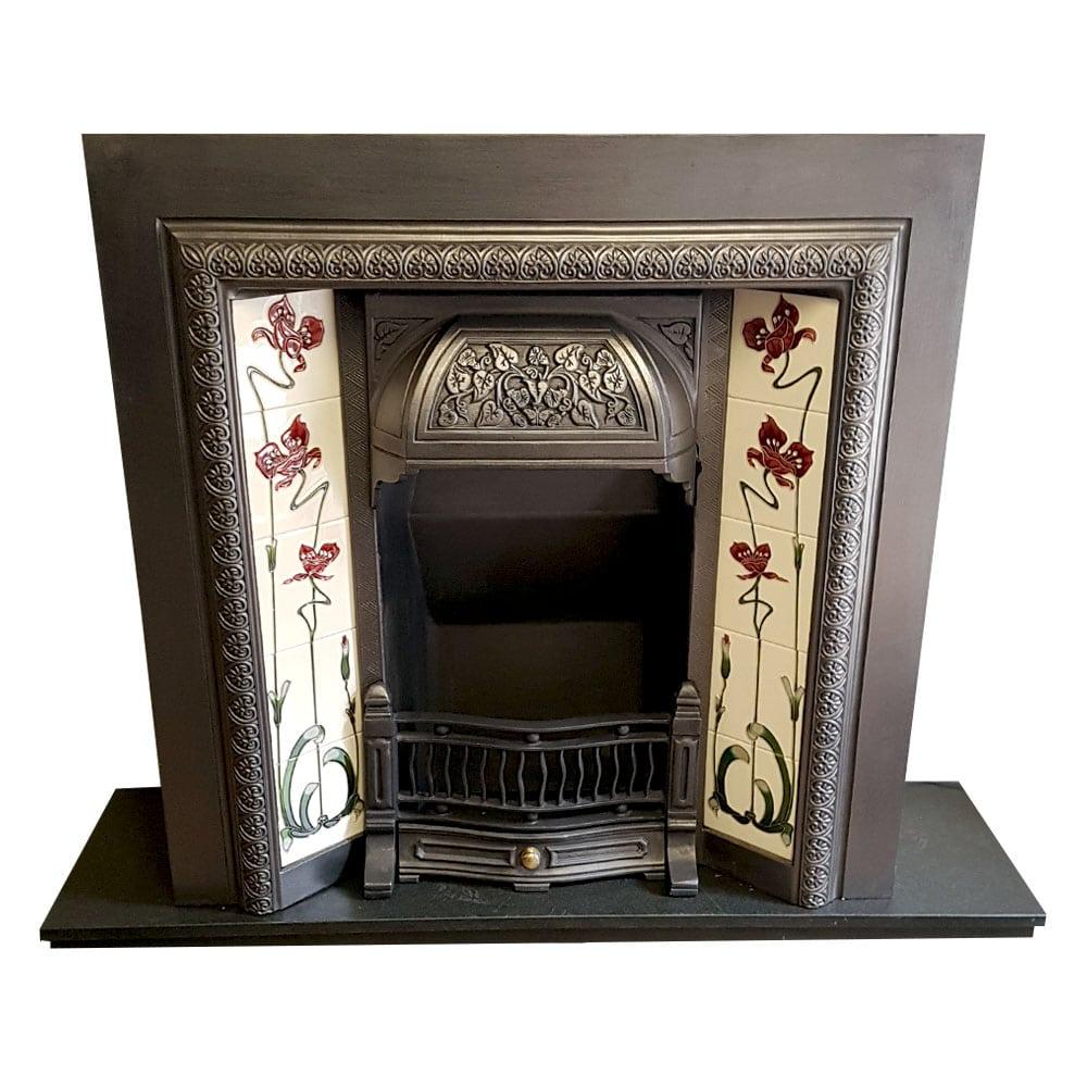 Original Cast Iron Fireplace Insert For Sale Victorian Fireplace