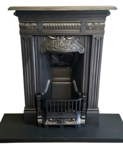 BED197 - Bedroom Cast Iron Antique Fireplace
