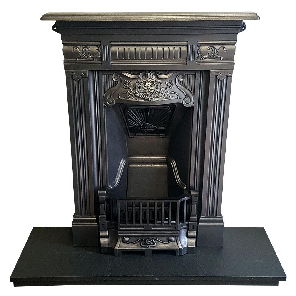 Bedroom Cast Iron Antique Fireplace