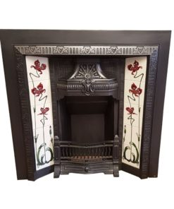 INS350 - Original Floral Heart Fireplace Insert