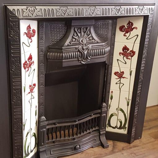 INS350 - Original Floral Heart Fireplace Insert