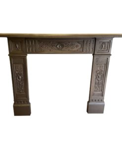 Intricate Cast Iron Fireplace Surround