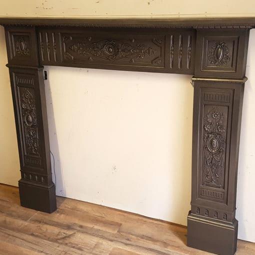 Intricate Cast Iron Fireplace Surround