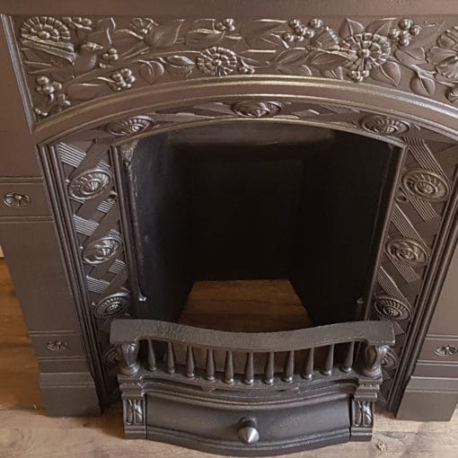 BED212 - Intricate Cast Iron Bedroom Fireplace
