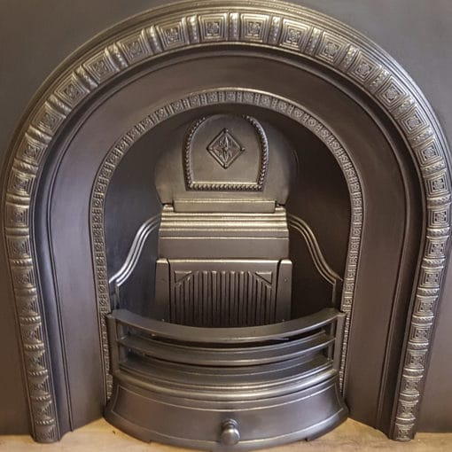 INS353 - Antique Arched Fireplace Insert