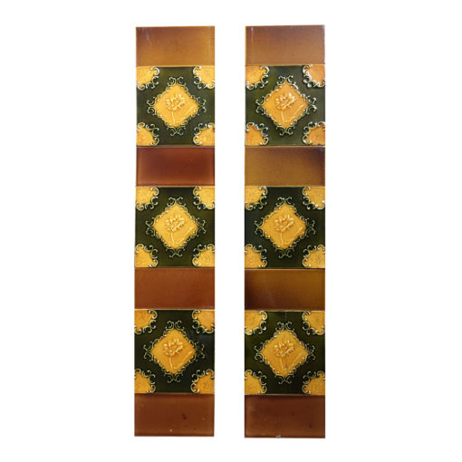 OT290 - Colourful Floral Fireplace Tiles