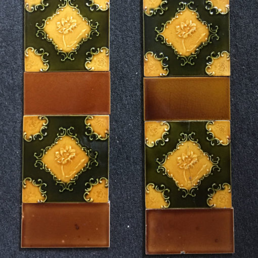 OT290 - Colourful Floral Fireplace Tiles - Bottom