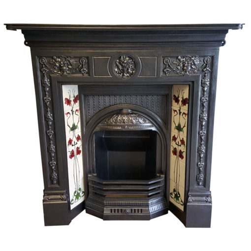 COMBI355 - Elaborate Cast Iron Combination Fireplace