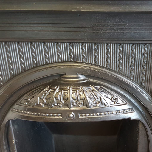 COMBI355 - Elaborate Cast Iron Combination Fireplace Canopy