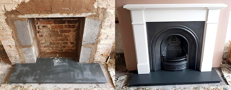 How To Fit A Fireplace Tiles Amp Hearth Victorian