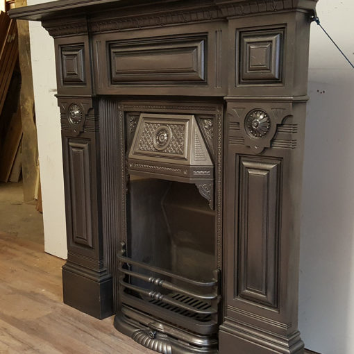 COMBI358 - Stunning Cast Iron Combination Fireplace Side