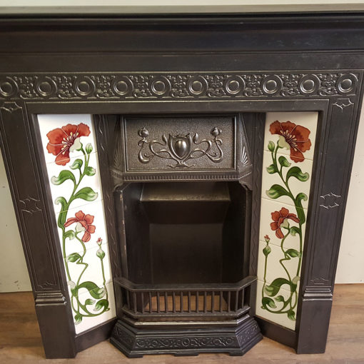 COMBI354 - Tiled Cast Iron Combination Fireplace Detail