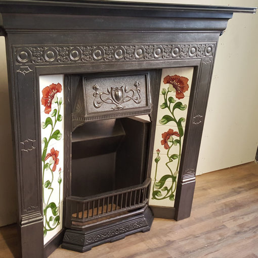 COMBI354 - Tiled Cast Iron Combination Fireplace Side